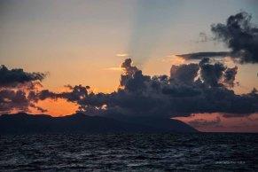 Sunset on Lipari, Aeolian island, Sicily photographed by Serge Briez ©2014 Cap médiations, Thera Explorer