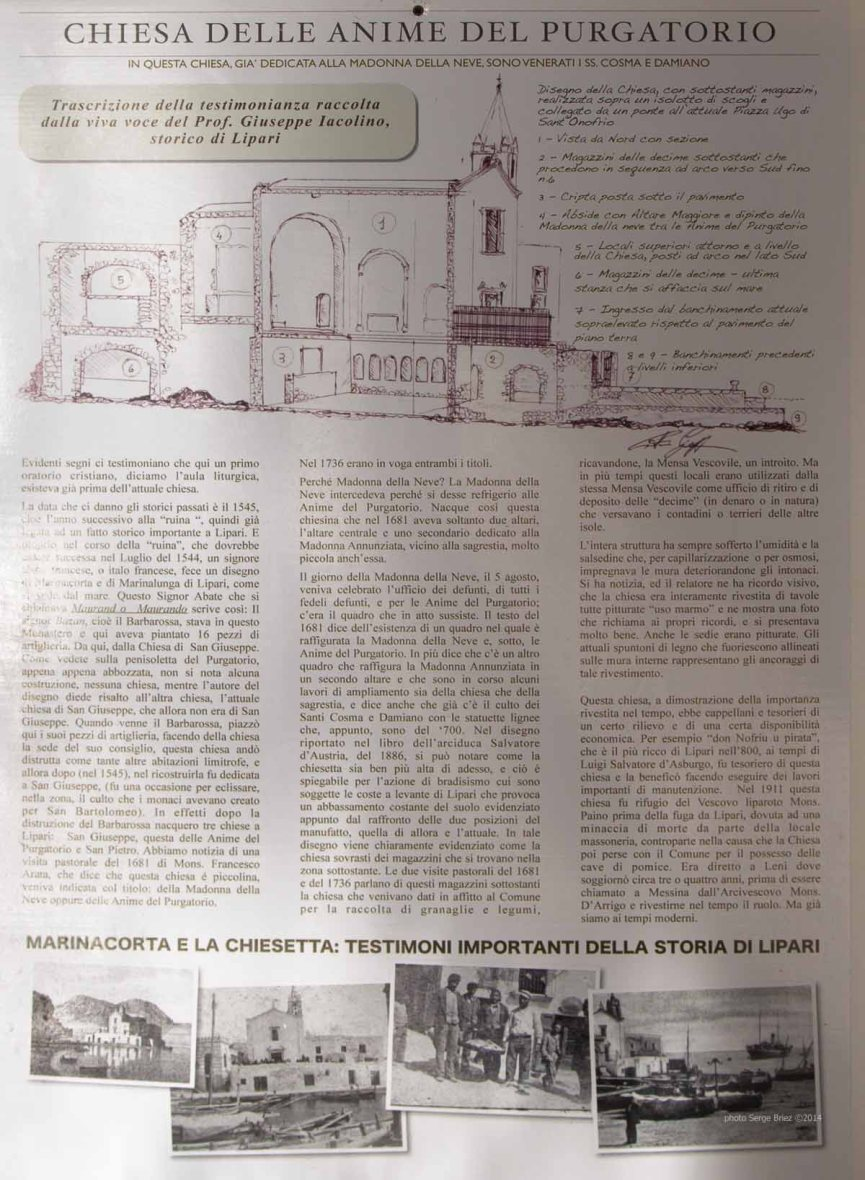 Creche's history of the Madonna della Nueve Church, Lipari photographed by Serge Briez ©2014 Cap médiations, Thera Explorer