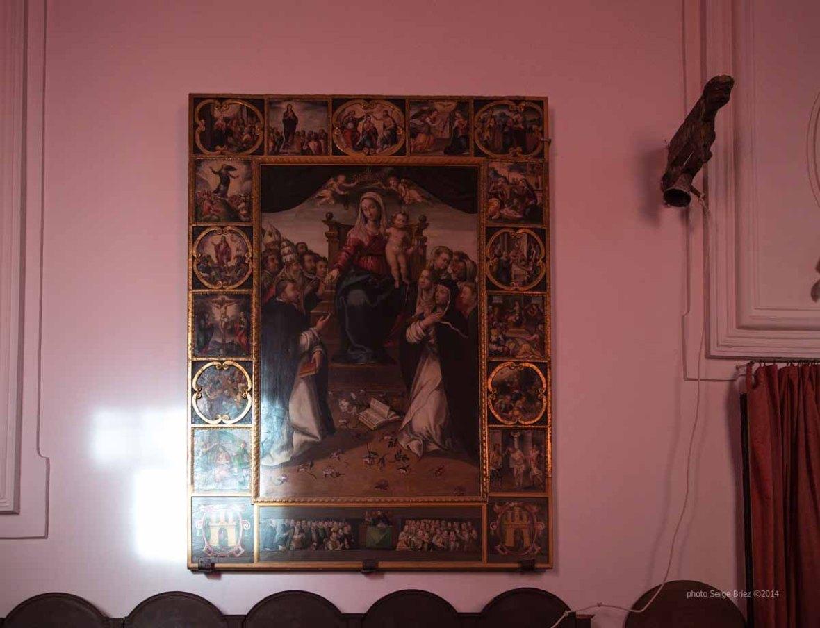 Altarpiece in the basilica San Bartolomeo, Lipari photographed by Serge Briez ©2014 Cap médiations, Thera Explorer