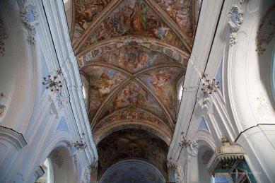 Frescoed ceilings in the Basilica San Bartolomeo, Lipari Island photographed by Serge Briez ©2014 Cap médiations, Thera Explorer