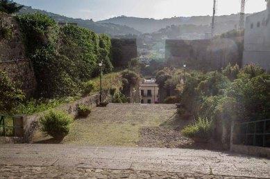 View of the gardens behind the Basilica San Bartolomeo, Lipari Island photographed by Serge Briez ©2014 Cap médiations, Thera Explorer