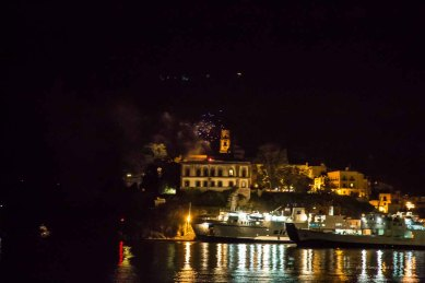 Lipari Castle the night, view from the Boat Thera Explorer photographed by Serge Briez ©2014 Cap médiations, Thera Explorer