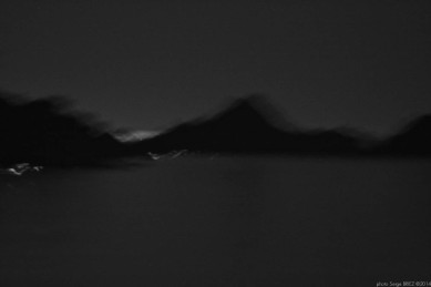 Bay of Salvador Dalí in the moonlight, port Lligat, Spain photographed by Serge Briez, ©2014 Cap médiations
