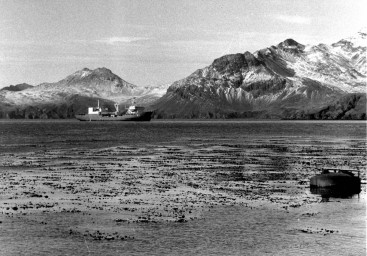 ARA, bahia paraiso, polar Transport, on South Georgia, 1982, photographed by Serge Briez, ©2014 Cap médiations
