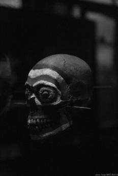 skull, Primitive art,in museum quai Branly photographed by Serge Briez, ©2014 Cap médiations