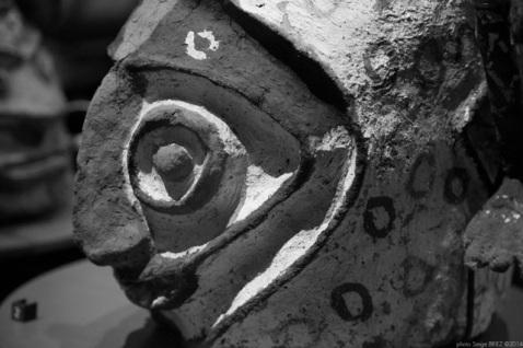 caps masks, Vanuatu, Primitive art,in museum quai Branly photographed by Serge Briez, ©2014 Cap médiations