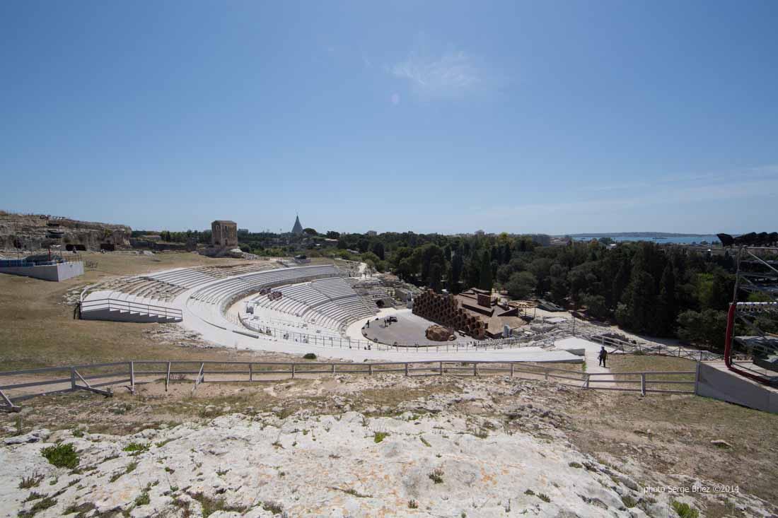 Teatro greco Syracuse photographed by Serge Briez ©2014 Cap médiations, Thera Explorer