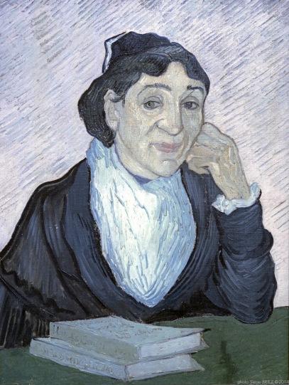 L'Arlesienne, Portrait of Madame Ginoux, Oil on Canvas, 1890, Van gogh's painting photographed by Serge Briez, ©2014 Cap médiations