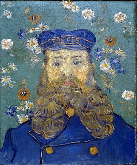 Portrait of postman Joseph Roulin, Portrait du Postier Joseph Roulin, 1889, Van gogh's painting photographed by Serge Briez, ©2014 Cap médiations