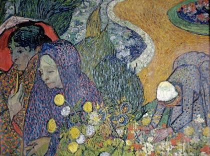 Women of Arles (Memories of the Garden at Etten),Les femmes d'Arles (souvenirs du jardin à Etten), 1888, Van gogh's painting photographed by Serge Briez, ©2014 Cap médiations