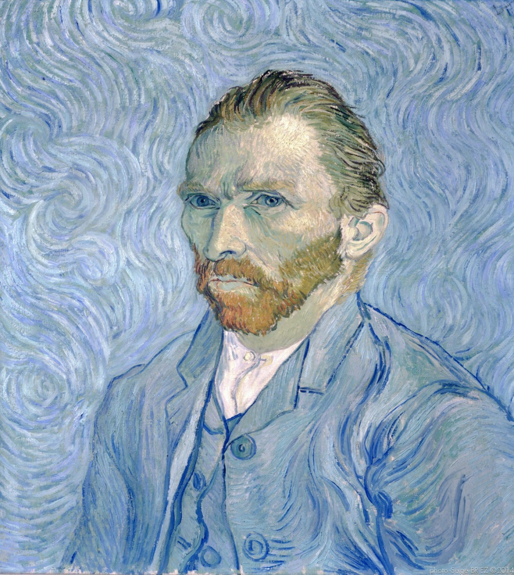 Self-portrait, Portrait of the artist, 1889 , Van gogh's painting photographed by Serge Briez, ©2014 Cap médiations