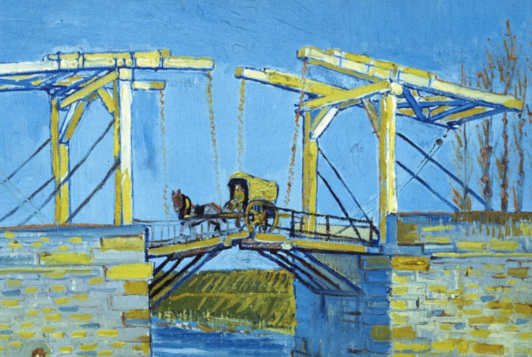 Langlois bridge with washerwomen, 1888, Van gogh's painting photographed by Serge Briez, ©2014 Cap médiations