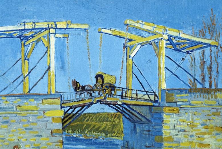 Langlois bridge with washerwomen, 1888, Van gogh's painting photographed by Serge Briez, ©2014 Cap médiations