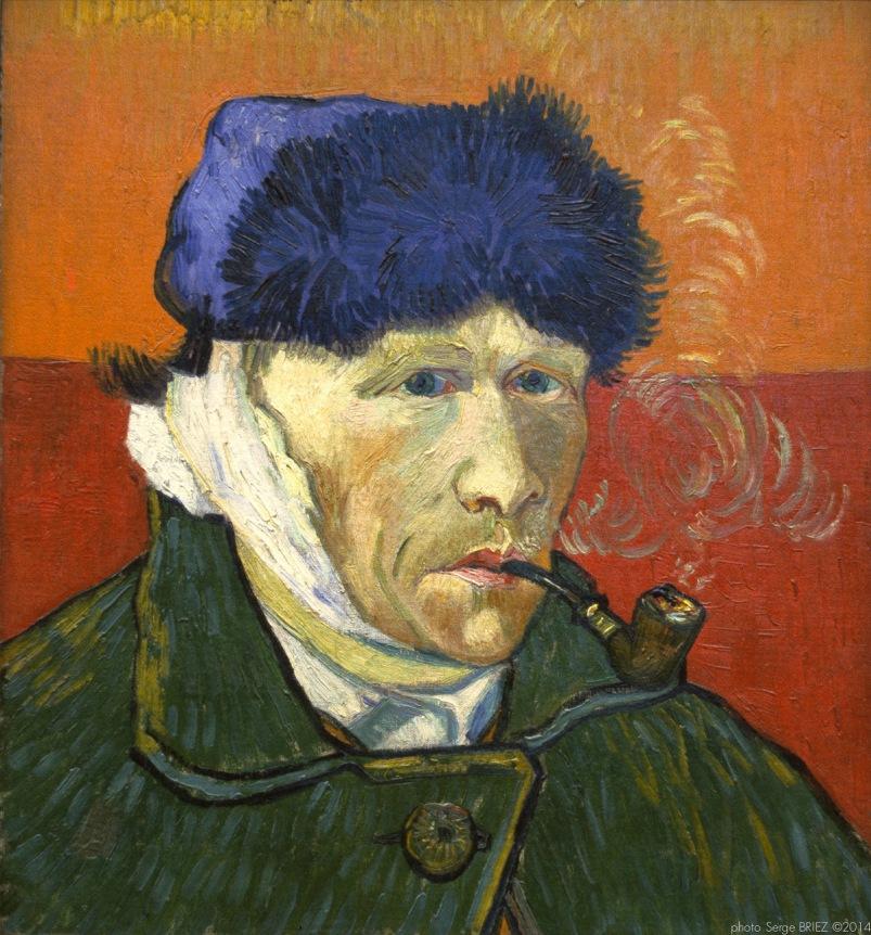 Self-portrait with Bandaged Ear, Portrait of the artist, 1889 , Van gogh's painting photographed by Serge Briez, ©2014 Cap médiations