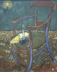 Vincent's chair, la chaise de Vincent, 1888, Van gogh's painting photographed by Serge Briez, ©2014 Cap médiations