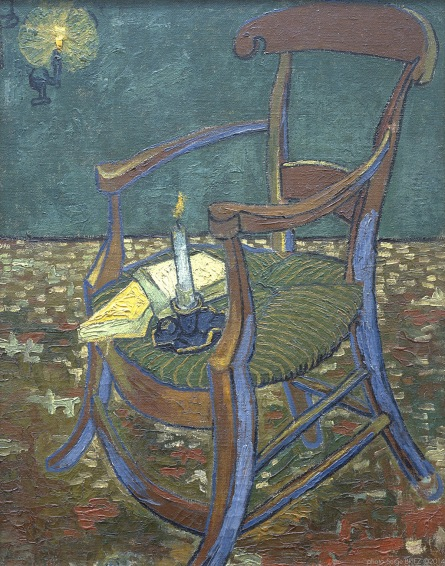 Vincent's chair, la chaise de Vincent, 1888, Van gogh's painting photographed by Serge Briez, ©2014 Cap médiations