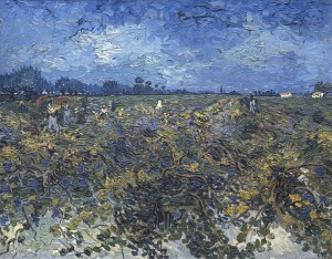 Green vineyard, Vignoble vert, Montmajour, 1888, Van gogh's painting photographed by Serge Briez, ©2014 Cap médiations