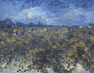 Green vineyard, Vignoble vert, Montmajour, 1888, Van gogh's painting photographed by Serge Briez, ©2014 Cap médiations