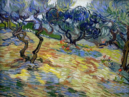 The Olive Trees, Oliviers, 1889, Van gogh's painting photographed by Serge Briez, ©2014 Cap médiations