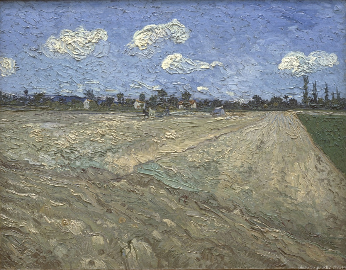 Plowed fields, champs labourés, 1889, Van gogh's painting photographed by Serge Briez, ©2014 Cap médiations