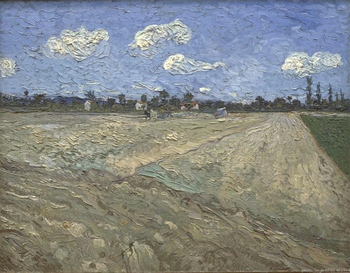 Plowed fields, champs labourés, 1889, Van gogh's painting photographed by Serge Briez, ©2014 Cap médiations