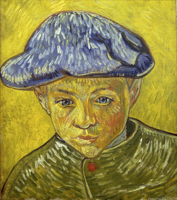 Portrait of Camille Roulin, 1888, Van gogh's painting photographed by Serge Briez, ©2014 Cap médiations