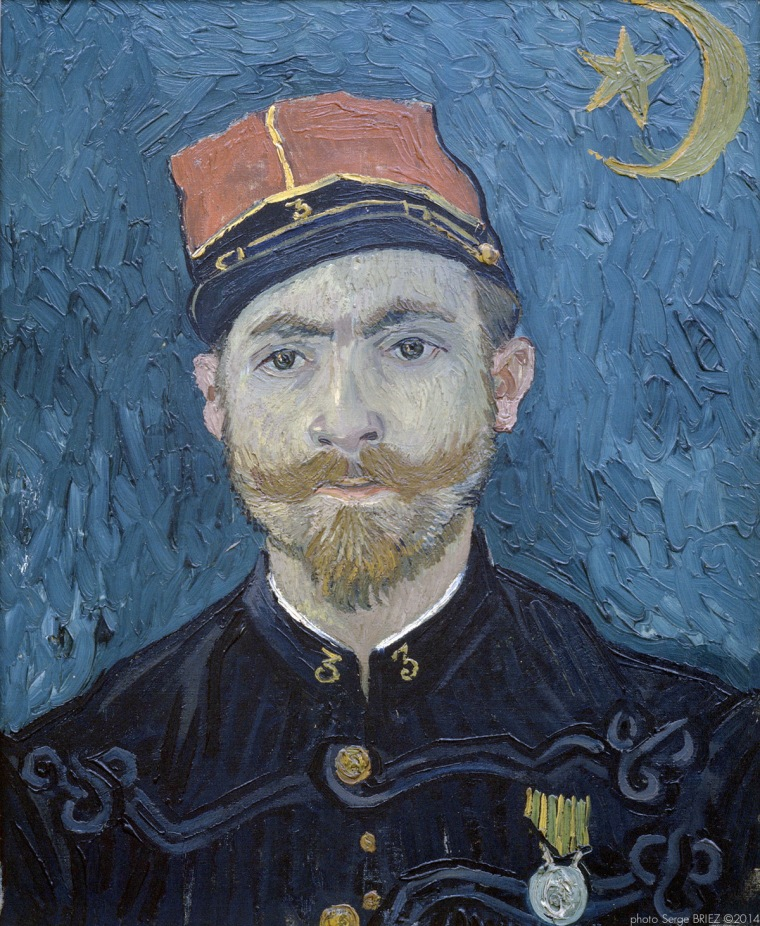 Portrait of Milliet, Second Lieutenant of the Zouaves, Portrait de Millet, second lieutenant des Zouaves, 1888 , Van gogh's painting photographed by Serge Briez, ©2014 Cap médiations