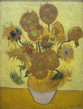 Sunflowers, Les Tournesols (Arles - 1888, juin), Van gogh's painting photographed by Serge Briez, ©2014 Cap médiations