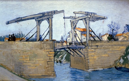 The Langlois Bridge at Arles, 1888, Van gogh's painting photographed by Serge Briez, ©2014 Cap médiations