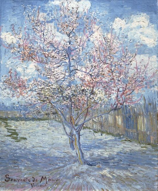 """Peach Blossom, """"Souvenir de Mauve"""", 1888, Van gogh's painting photographed by Serge Briez, ©2014 Cap médiations"""