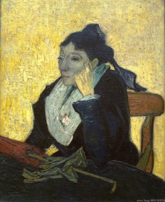 L'Arlésienne: Madame Ginoux with gloves and umbrella. Oil on canvas, Oil on Canvas, 1888, Van gogh's painting photographed by Serge Briez, ©2014 Cap médiations