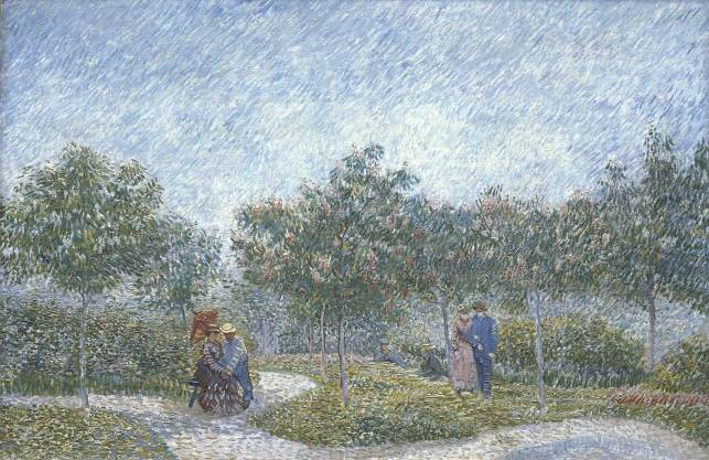 Promeneurs, walkers, Van gogh's painting photographed by Serge Briez, ©Serge Briez, Cap médiations