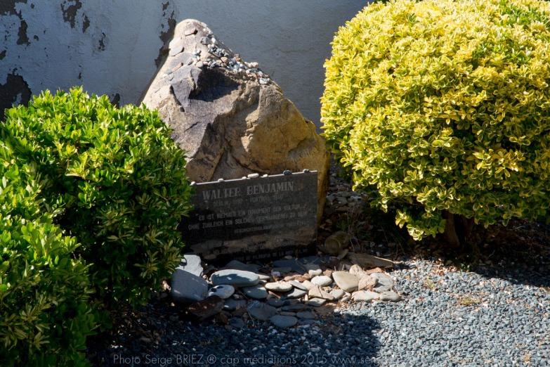 Cimetière communal de Portbou - Tombe de Benjamin Walter- photo Serge Briez ®capmediations.2015 reproduction iinterdite