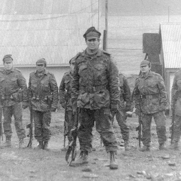 ALFREDO ASTIZ in Falkland war 1982, copyright photo Serge Briez@capmediations 2015